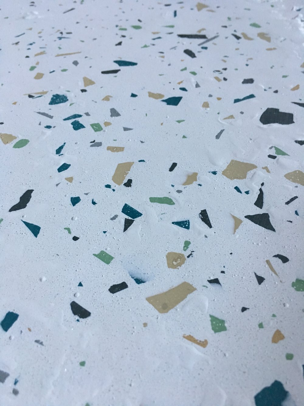 First glimpses of the terrazzo