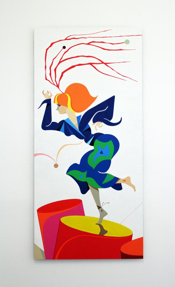 Lothar Hempel  Sambadroma (2010) Acrylic on aluminium 150 x 70 cm (59,05 x 27,56 in) unique