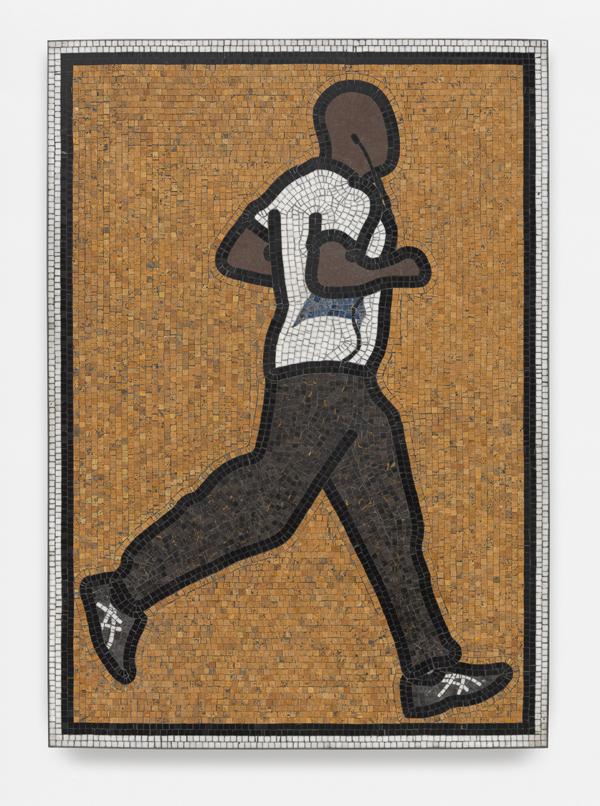 Julian Opie  Pilot. 1. (2015) Mosaic tiles 121.4 x 85.3 x 5 cm