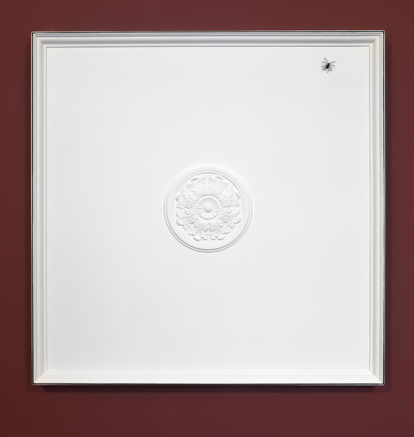 Elmgreen & Dragset  Historical Detail, Fig. 2  (2014) Stucco, wood, metal frame, metal spider 130 x 130 cm
