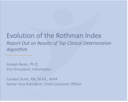 Evolution of the Rothman Index -