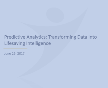 Predictive Analytics: transofrming Data Into Lifesaving Intelligence -