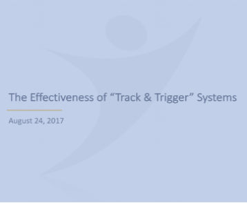 The Effectiveness of Track and Trigger Systems -