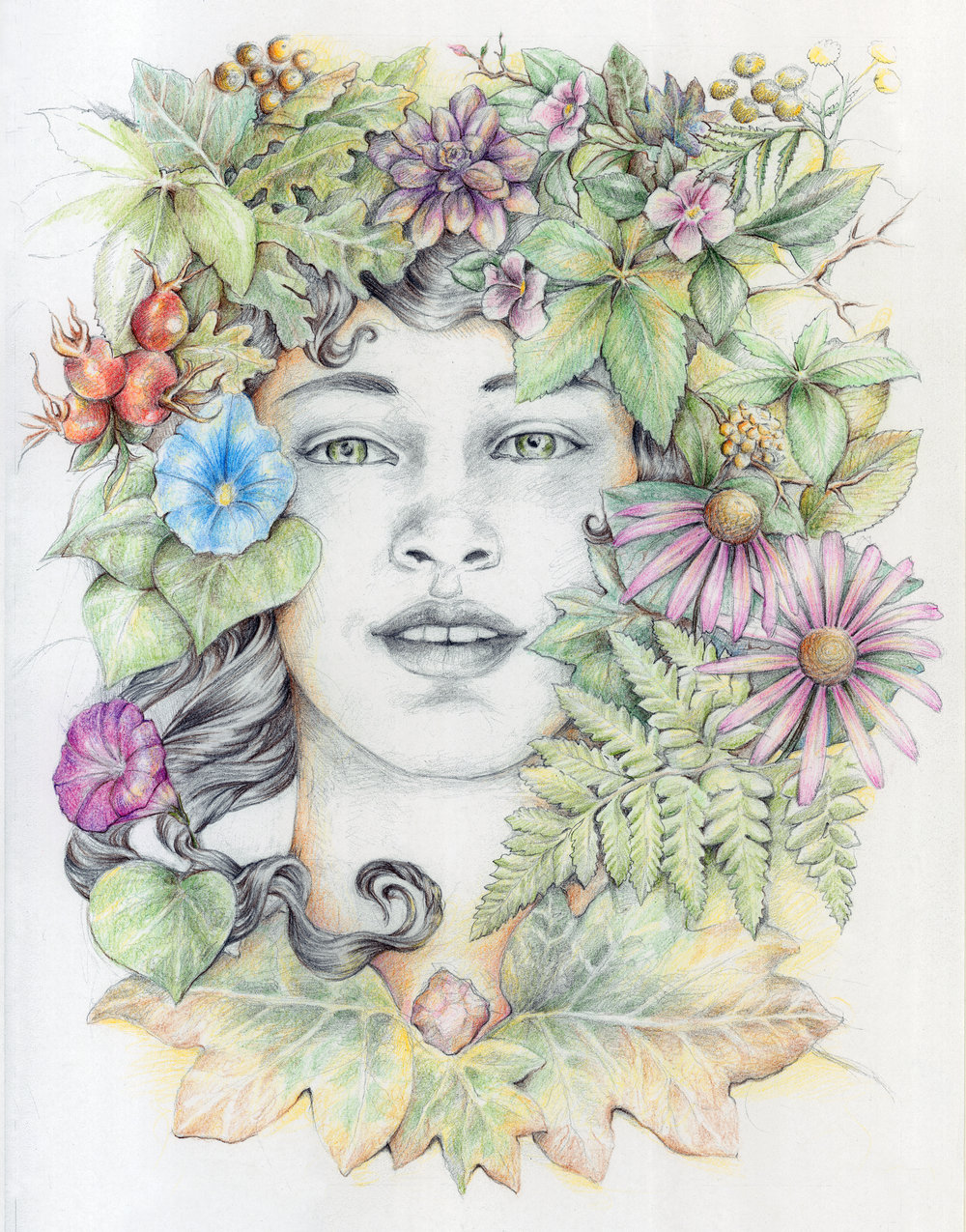 Full pagearticle illustration for Chronogram Magazine. September, 2017. Graphite and color pencils.