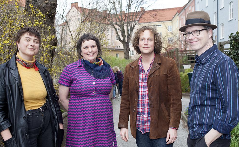 Lisen Däldborg, Lisa Karinsdotter Pålsson, Johan Joelsson och Fredrik Pålsson