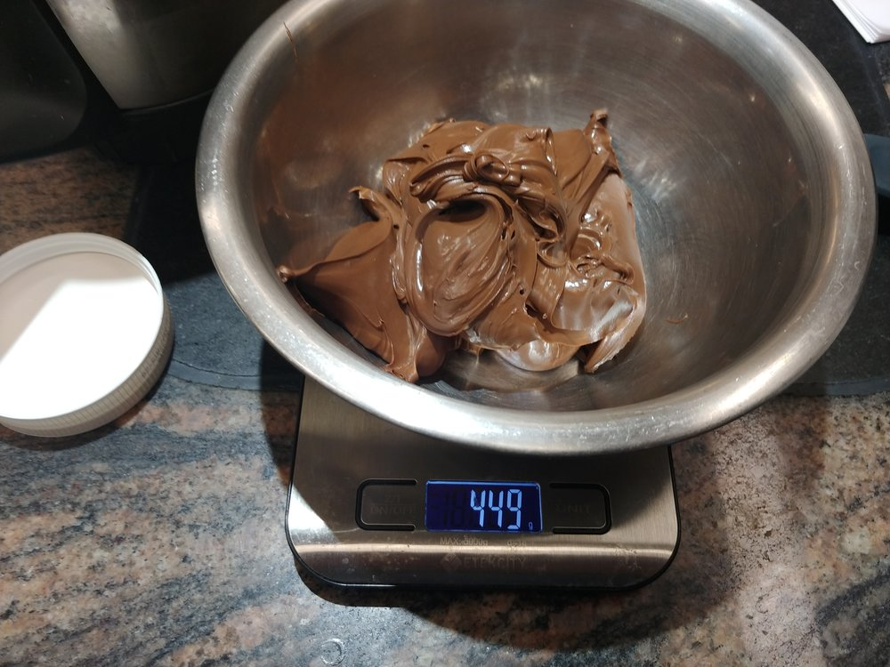 Then - 450g of Nutella
