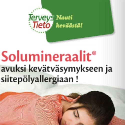 TerveysTieto 03/2014  Solumineraalit® kevätväsymyksen ja siitepölyallergian hoitoon