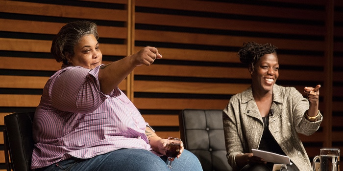 Author Roxane Gay and Garvia Bailey, Toronto Reference Library's Appel Salon