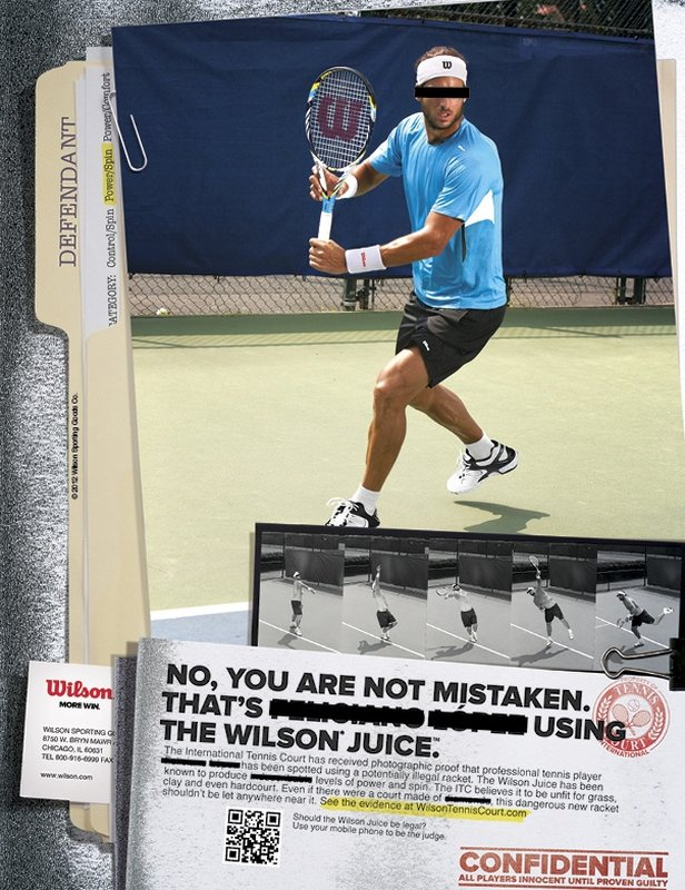 "Feliciano Lopez  for Wilson sports ""Juice"" racket ad campaign"