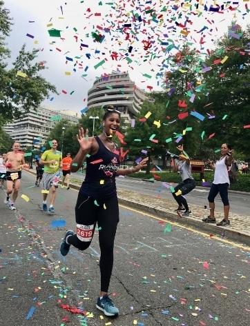 Natalie running the Navy Air Force Half Marathon, Sept. 2017.