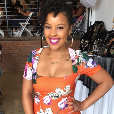 Vecoya Banks , event host and founder of Love the Hair YOU Wear