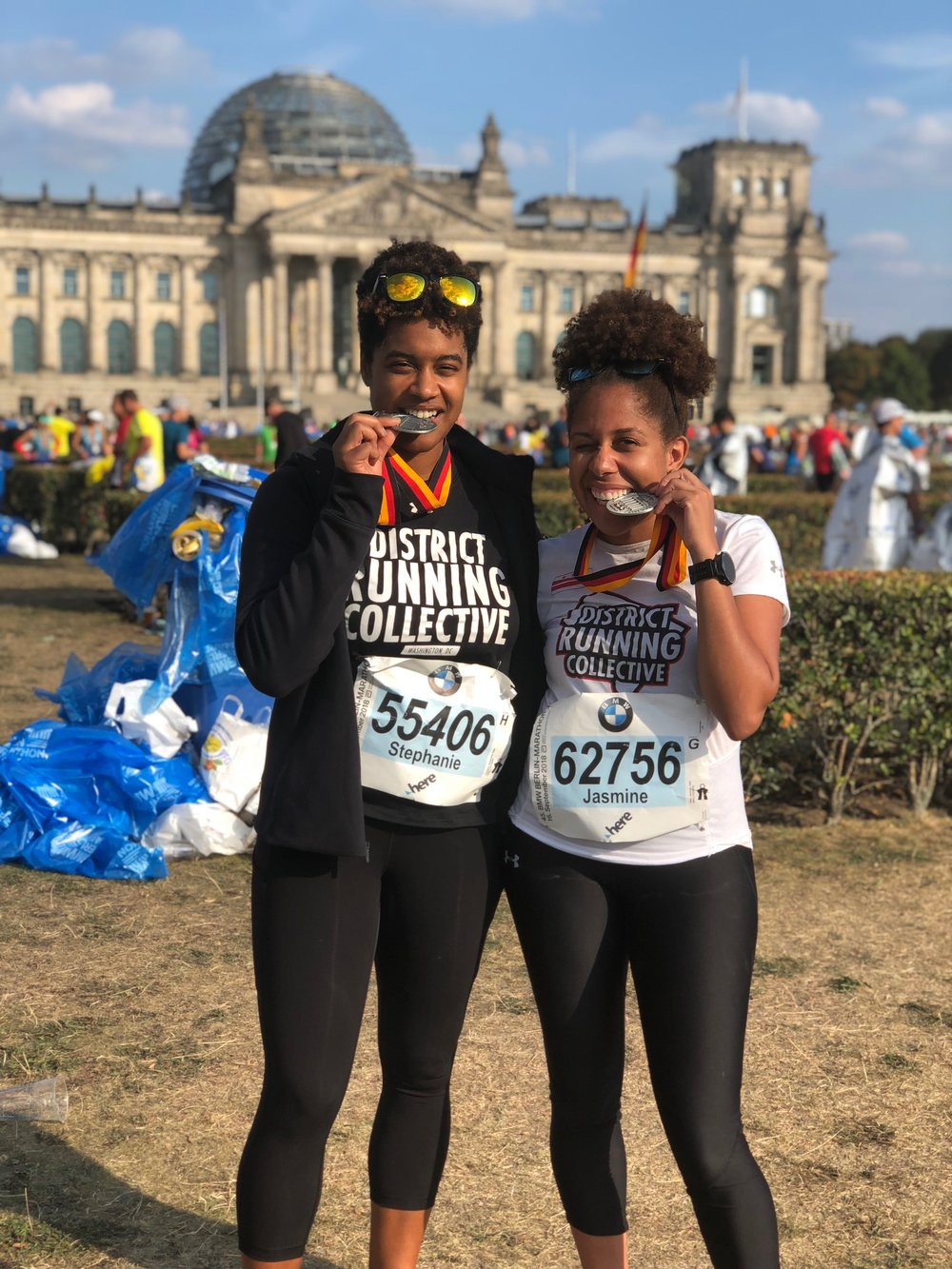 Stephani and Jasmine taste victory in Berlin.