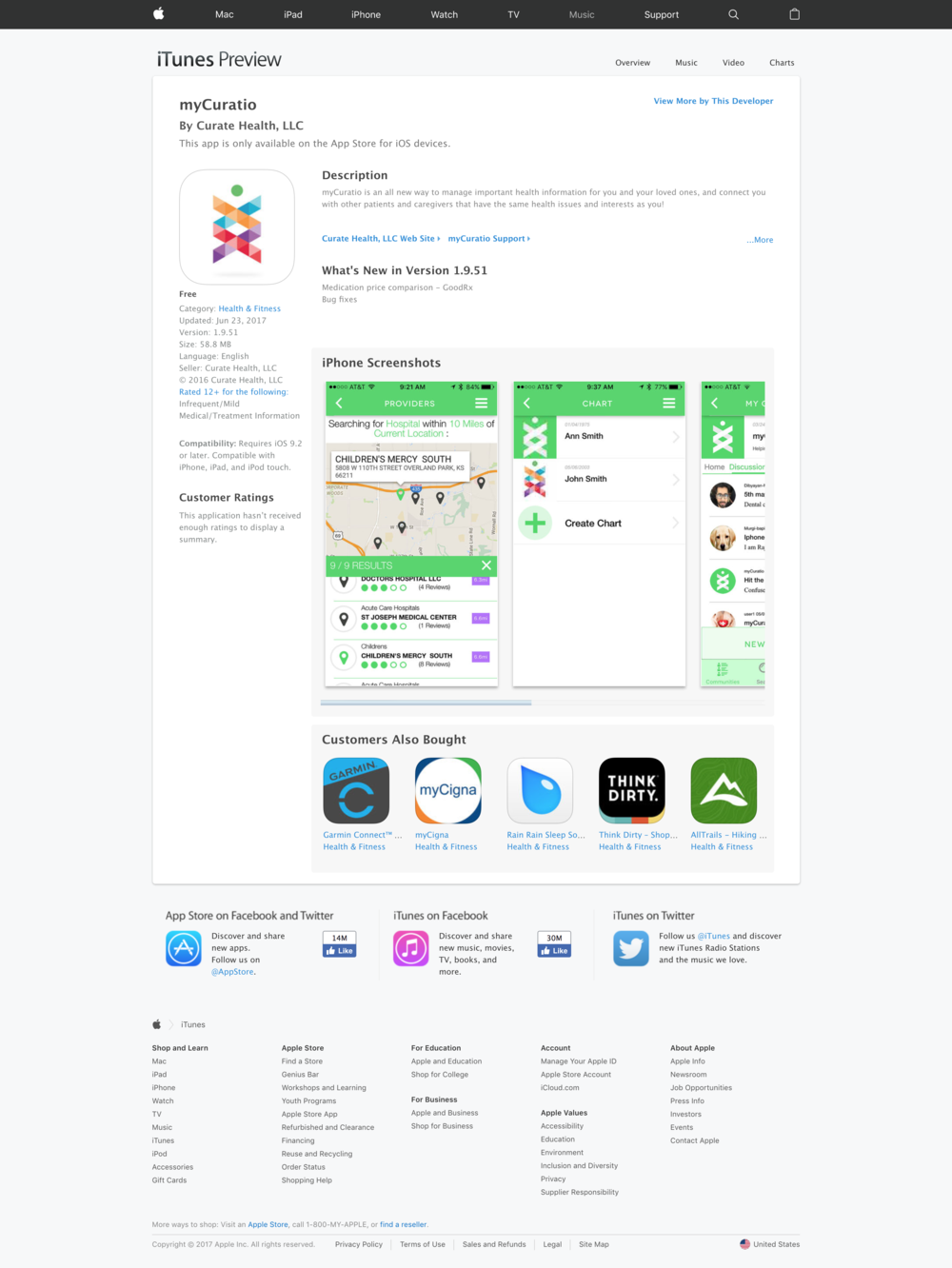 iOS App Store Page