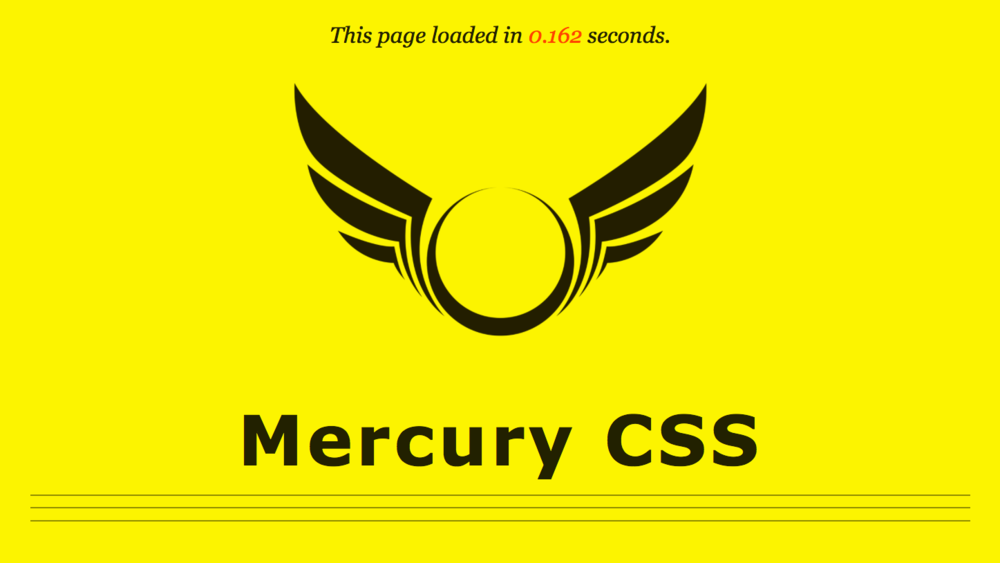 Mercury CSS - Classless CSS Boilerplate Built for SpeedRole: Creator