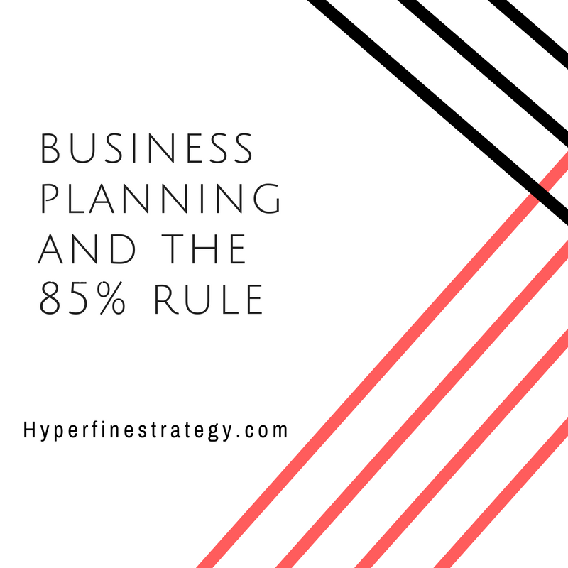 Discussing the importance of due diligence and business research. Hyperfine Strategy Group provides technical strategies to business leaders and decision makers based on a benchmark of 85% research.