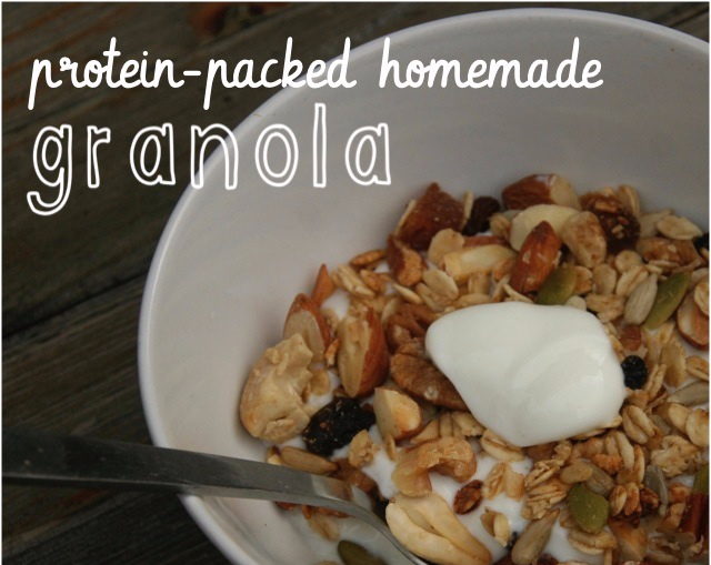 high-protein homemade granola - The perfect portable snack or breakfast.