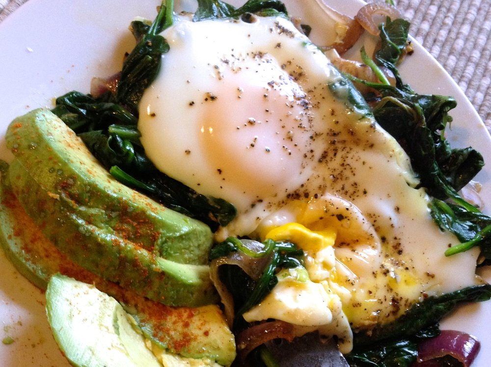 what_i_ate_wednesday_eggs_in_spinach_nest