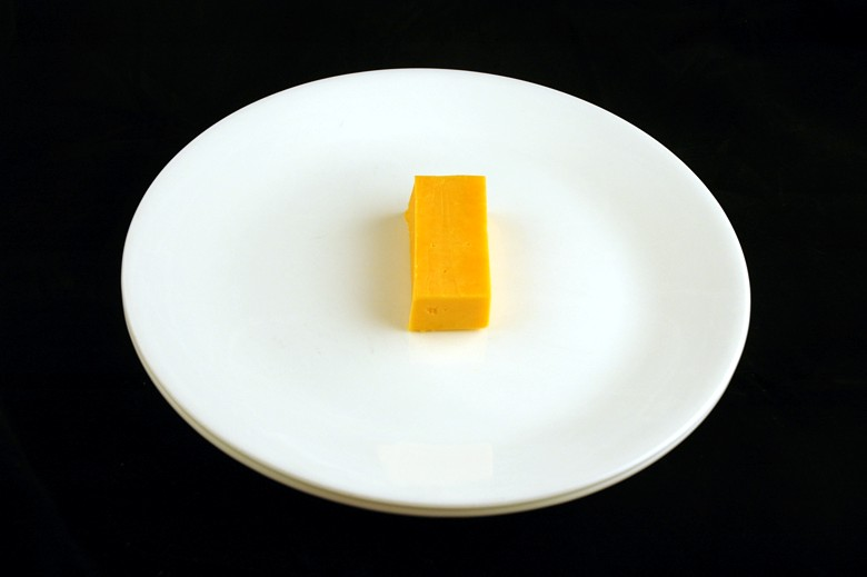 51 g of medium cheddar = 200 calories