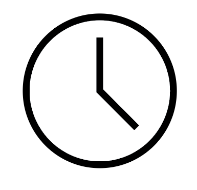 Clock vector for estimating amount of time or turnaround time for laser cutting