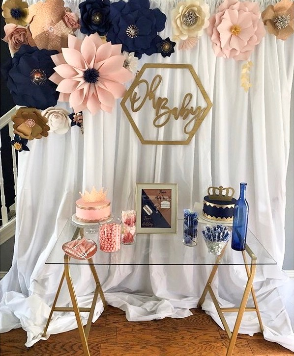 WOOD BABY SHOWER SIGN