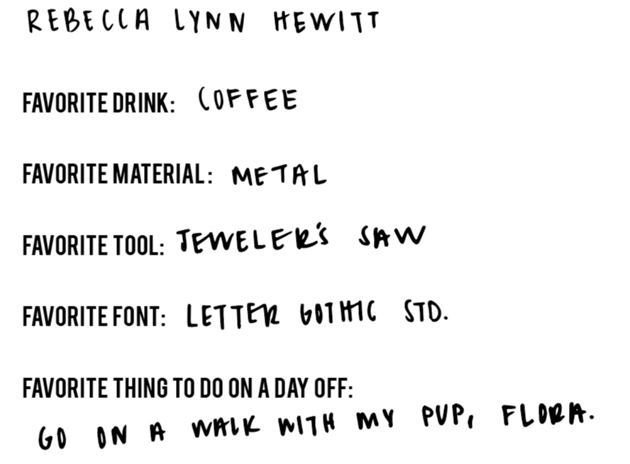 Laser Cut Co Team - Rebecca Lynn Hewitt, Meet our Team Favorites!