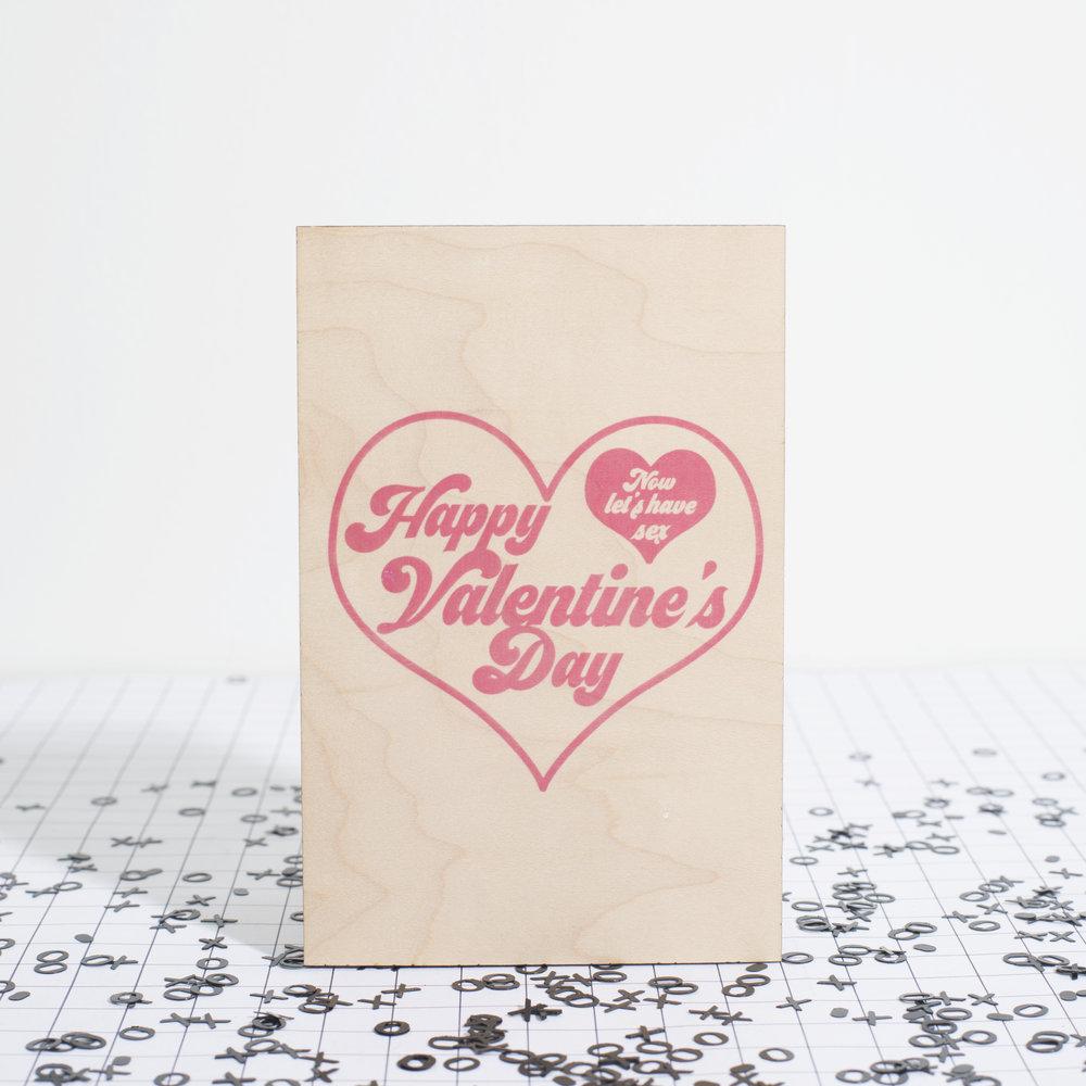 CARLA SUE- Valentine's Day Card - WOOD  LASER CUT VALENTINE'S DAY CARD