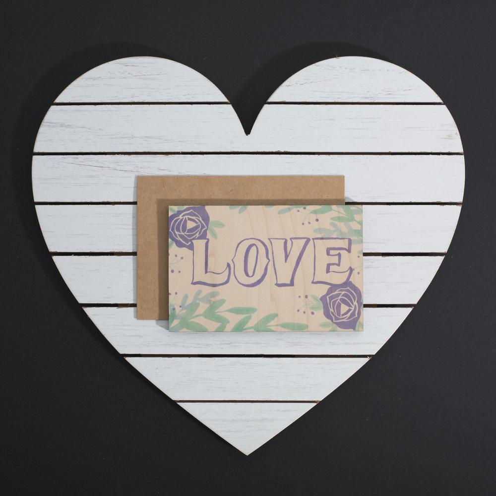 EDUARDO MARTINEZ /// @eddienfriends - WOOD  LASER CUT VALENTINE'S DAY CARD