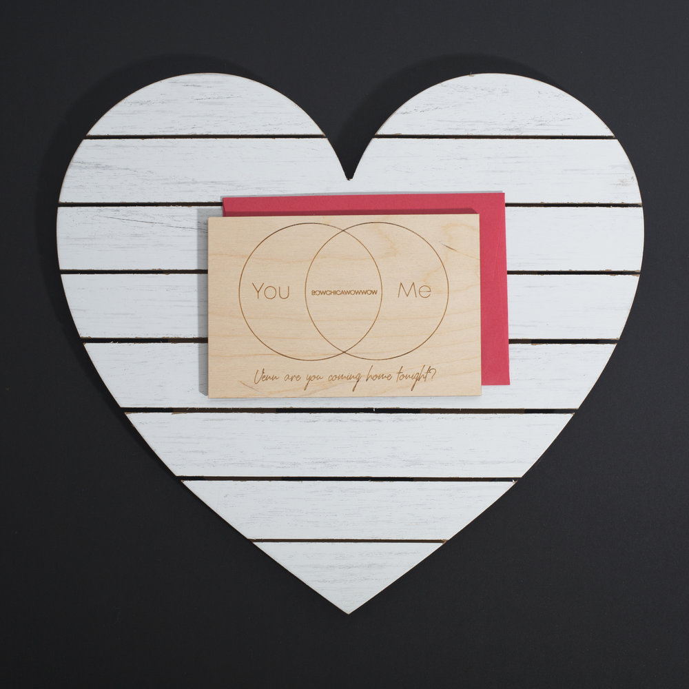 LINDA TRAN /// @INKLINGDESIGNSHTX - WOOD  LASER CUT VALENTINE'S DAY CARD