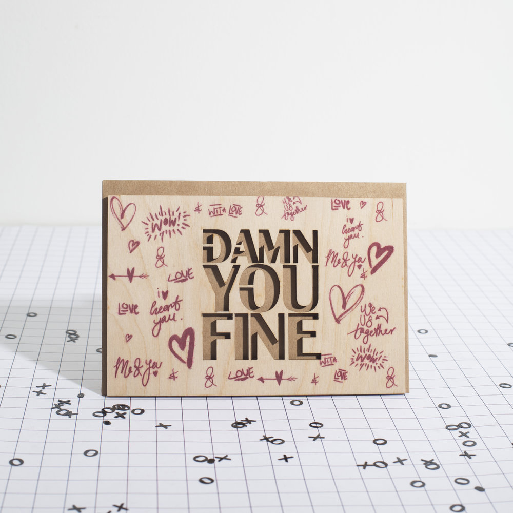 Mik Mont Creations - Laser Cut and Engraved Valentine's Day Card