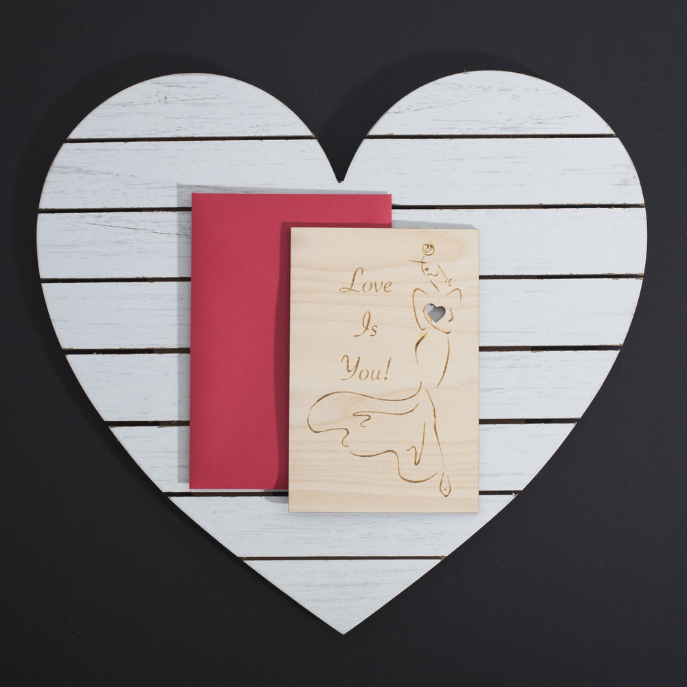 Palette of Style - Samar Babar - Laser Etched Valentine's Day Card