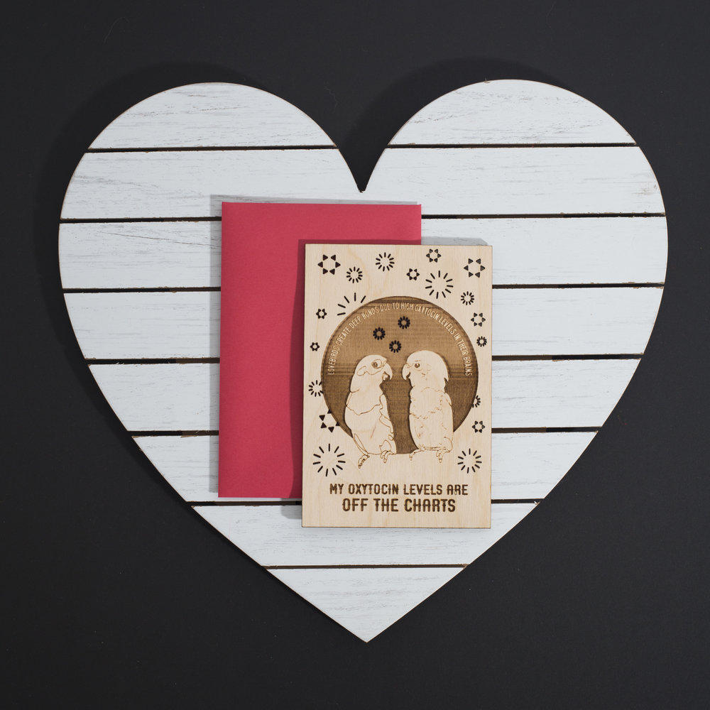 KELSEY  /// @strangetraces - WOOD  LASER CUT VALENTINE'S DAY CARD