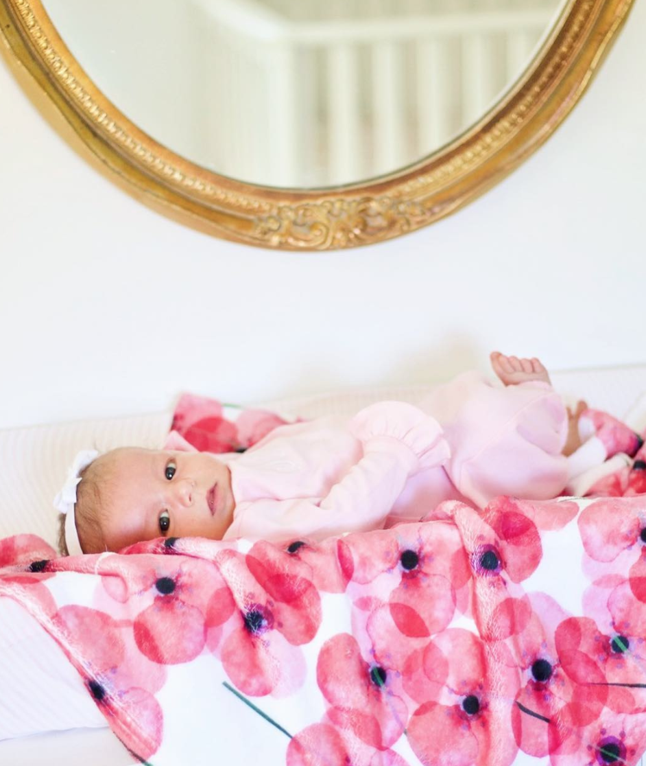 One of our children's products, the Poppy blanket featured in an Instagram Giveaway with  @vintageandgrace . Shop this blanket  here .