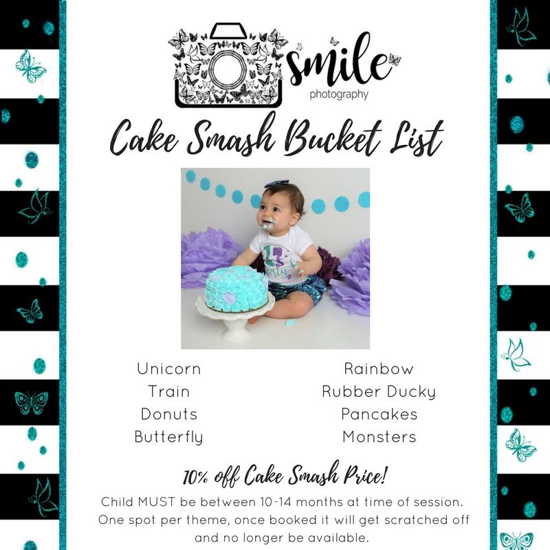 Cake Smash Bucket List
