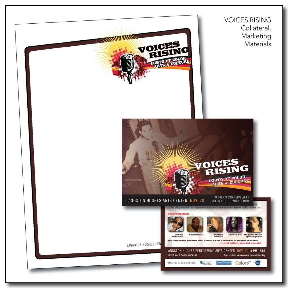 Voices Rising - Logo Design, Collateral Package