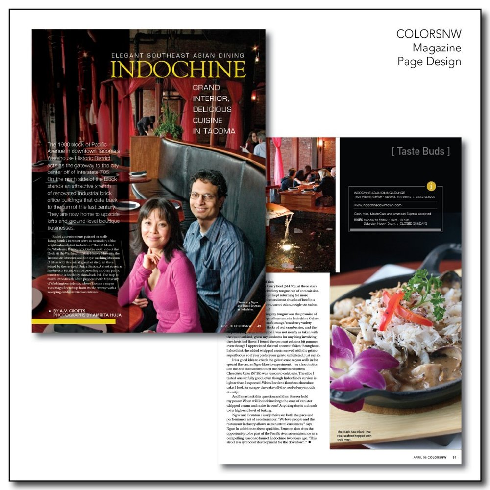 Page Design - ColorsNW Magazine