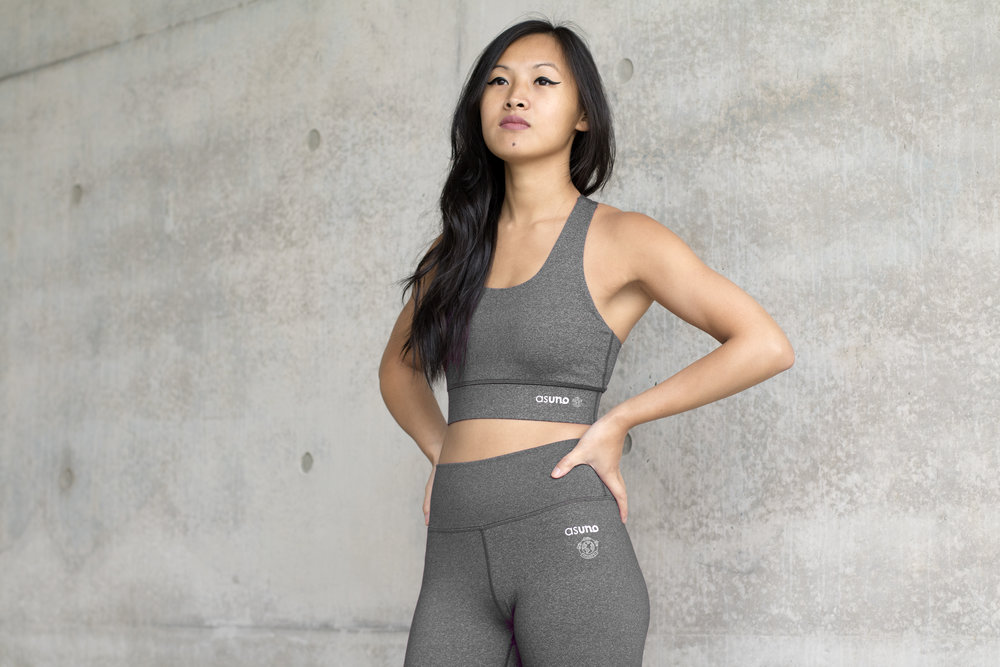 Asuno UK Ethical Activewear Gym Fitness Embrace Bra Heather Grey 9721.jpg