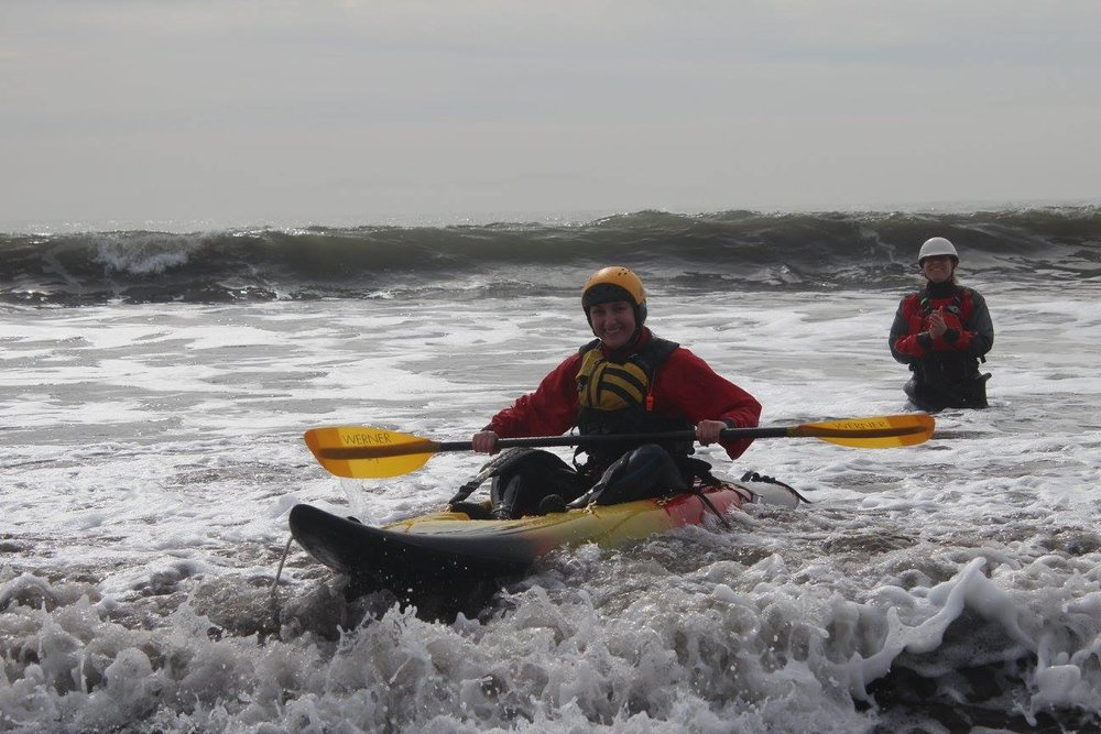 2nd Cali Collective Surf Kayaking Clinic, Bolinas 2014. (Photo: Melissa DeMarie)