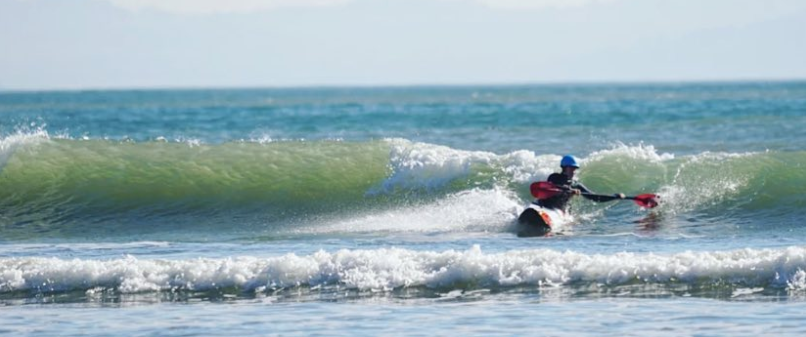 River & Ocean Surf Kayaking Clinic, Bolinas 2018 (Photo: Geraldine Hubert)