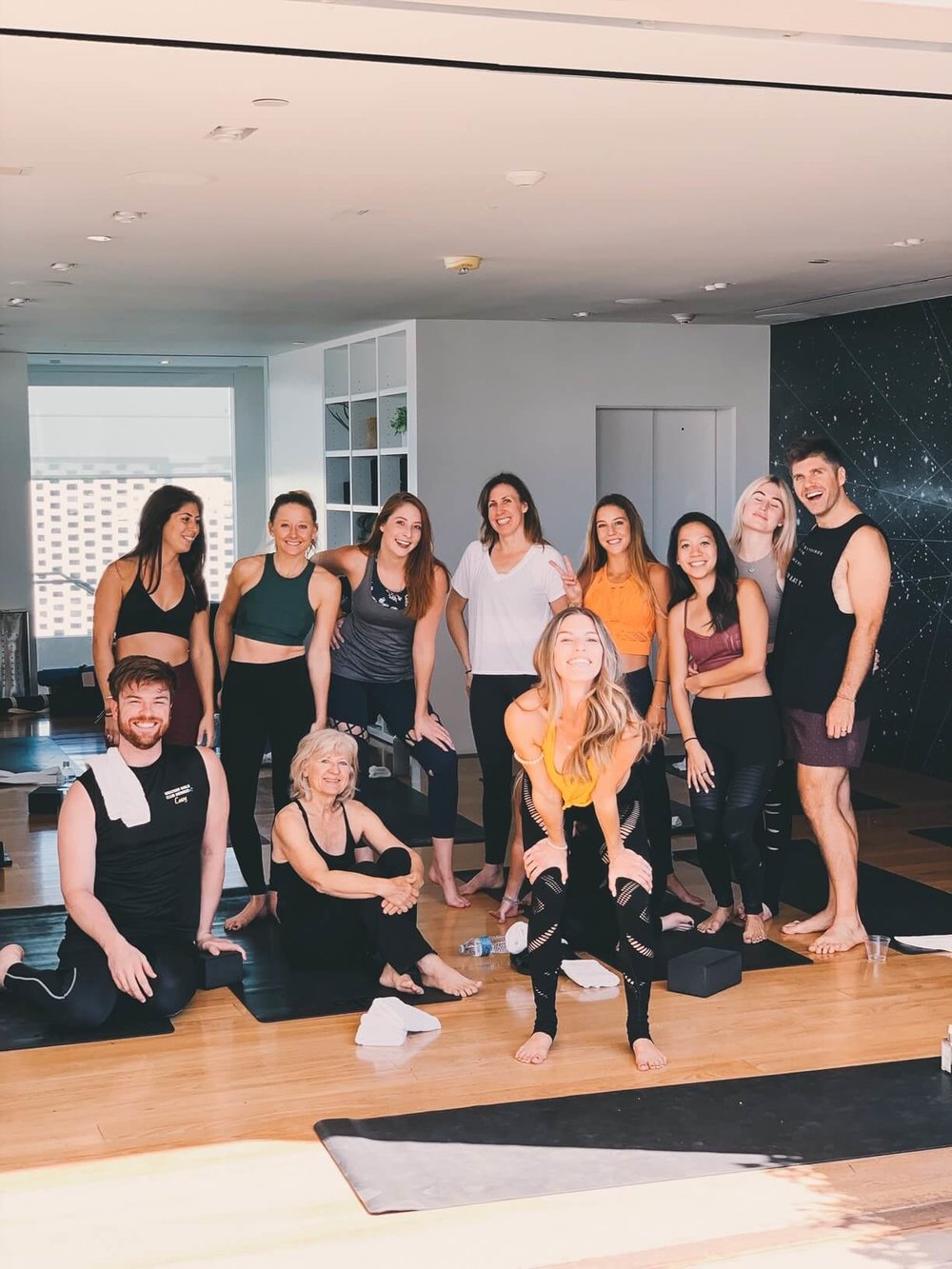 My first workshop at Alo Yoga in Beverly Hills - eek!