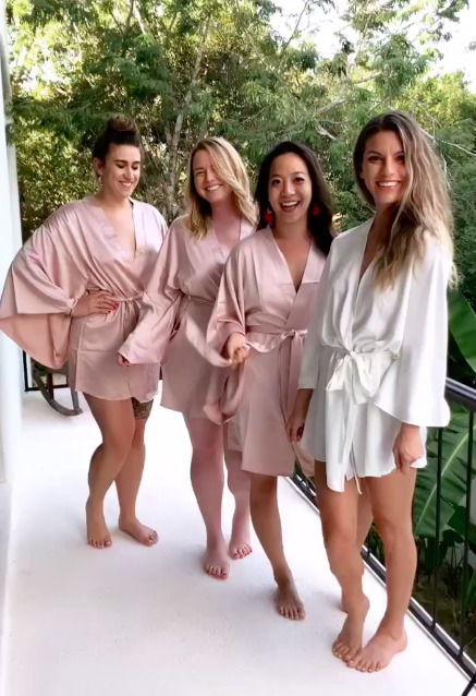 The girls are wearing the April Kimono by BHLDN