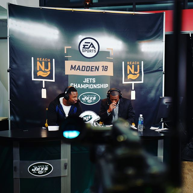 Having a blast this season with the Madden Club Championships. A few BTS photos from the broadcast yesterday with the #jets.