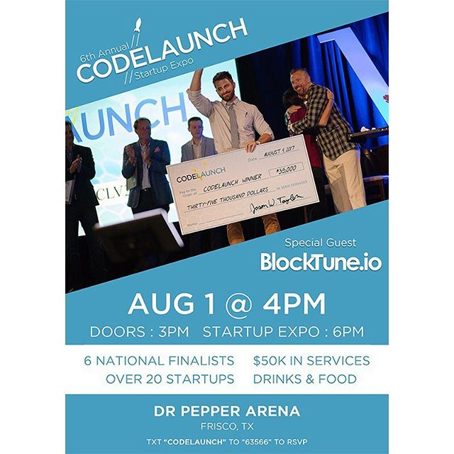 Join us at the #CodeLaunch Startup Expo – a seed accelerator competition for startup software entrepreneurs and a raucous networking event! Over $50K in seed services will be awarded in 2018.  RSVP with the link in our bio! . . . #startups #seedaccelerator #entrepreneurship #frisco