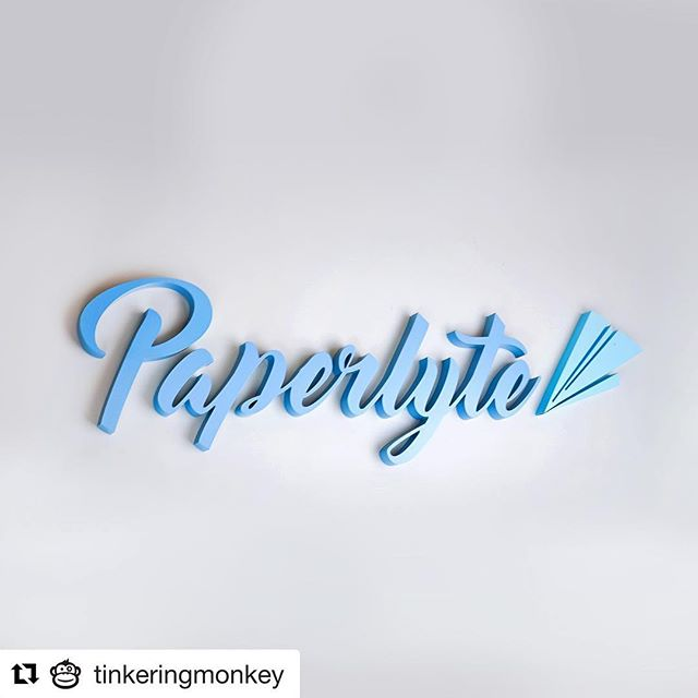"@tinkeringmonkey helping us with some signage for our brand update. Thanks @weareawkward for the fresh look all around. ""#Repost @tinkeringmonkey ・・・ The opposite of a paper weight is:"""