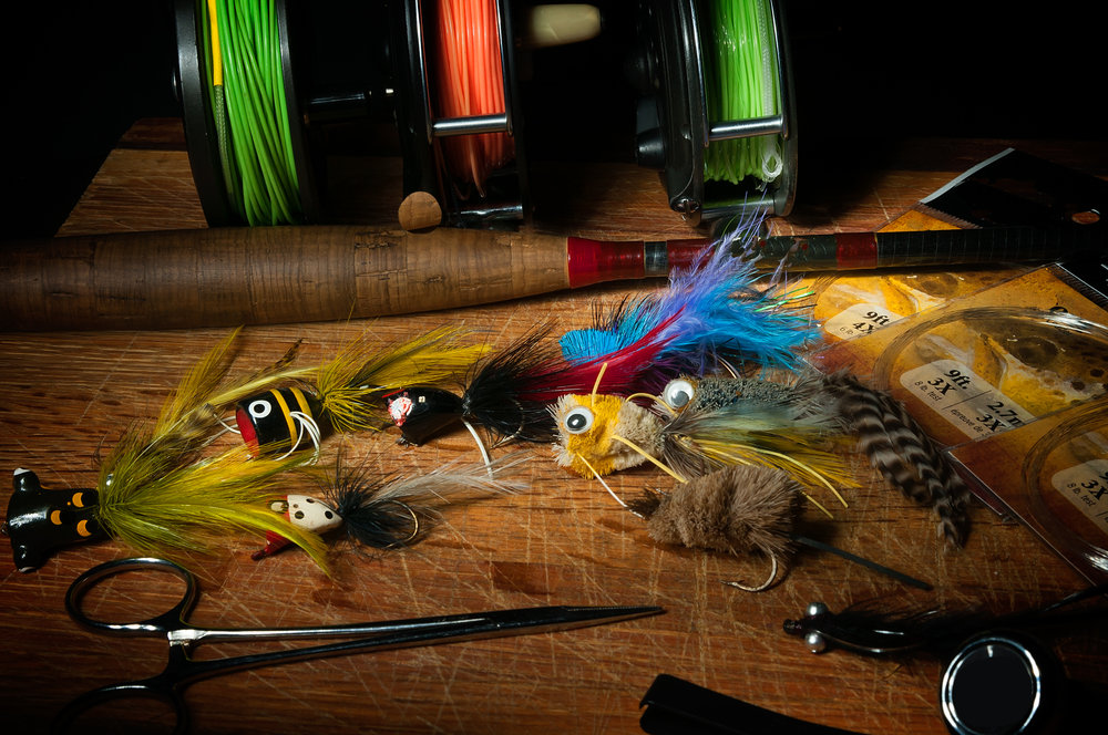 Light Painting – Fly Fishing Gear