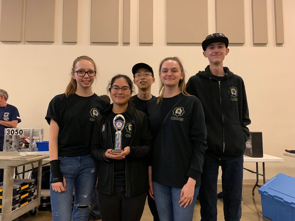FTC Southern Nevada League Championship February 2nd,2019    In the picture from left to right (back row):  Kristen Miller, Johnathan Wang, and Skyler John. (front row): Justice Fevella-Potes and Gabrielle Yeager.