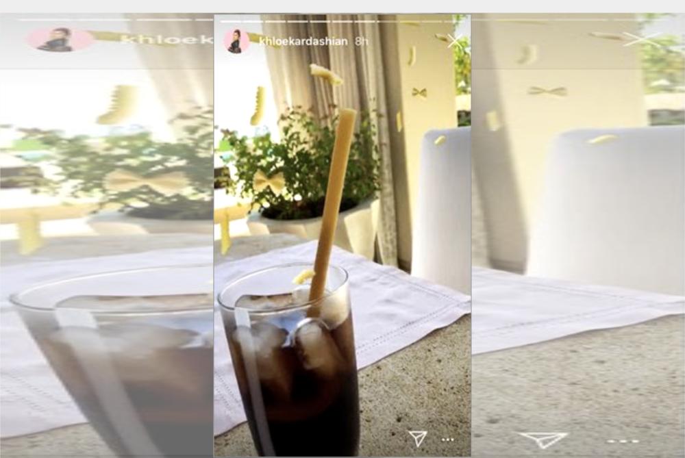 Khloe Kardashian Pasta Straws