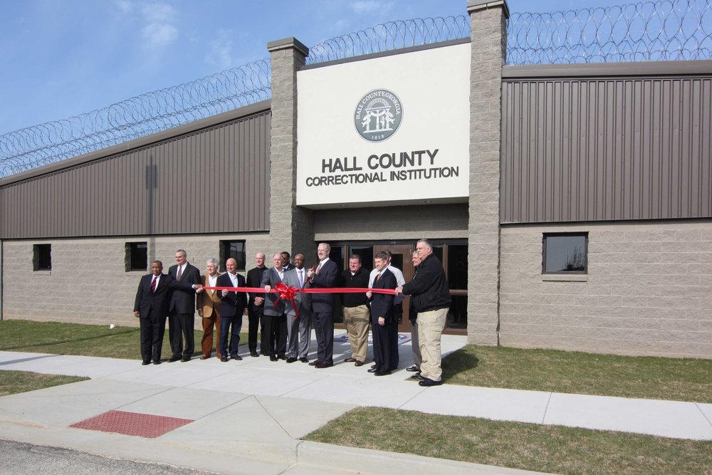 Hall County Correctional Institution Ribbon Cutting