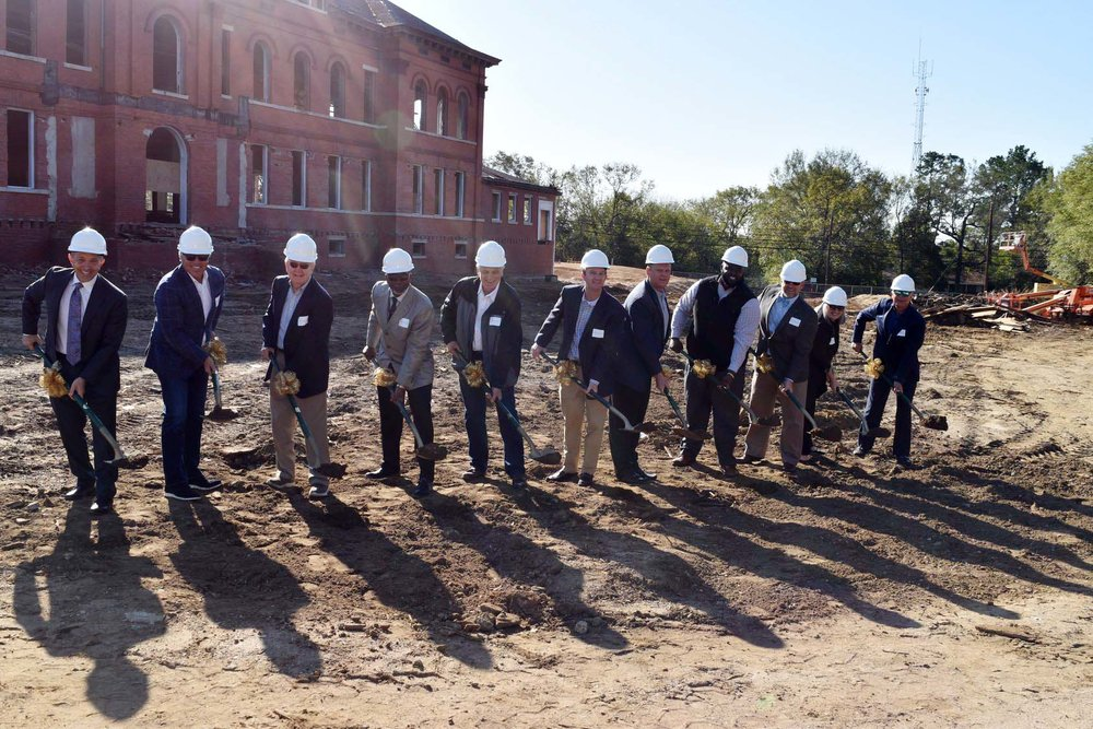 Groundbreaking at Howell School project