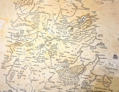 Large Scale Map Of Westeros Essos From Game Of Thrones A Song Of