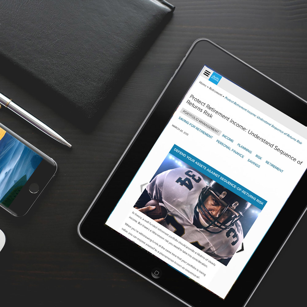 A wealth powerhouse shows its muscle online. - Every investment firm claims superior expertise. How do you set your firm apart?  We collaborated with Time Inc. to produce a series of online articles and slide shows for Charles Schwab. Drawing on proprietary research and interviews with Schwab experts, we presented advanced investment strategies in an easy-to-digest format, reinforcing the firm's brand promise as a savvy but accessible financial resource.
